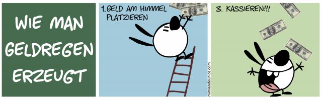 Wie man Geldregen erzeugt // 1. Geld am Himmel platzieren // 3. Kassieren!!!