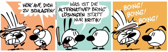 Hör' auf, dich zu schlagen! // Was ist die Alternative? Bring' Lösungen statt nur Kritik!